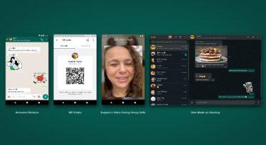WhatsApp lança figurinhas animadas e QR Code