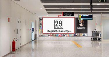 Aeroporto de Viracopos ganha circuito de OOH da 29 Horas