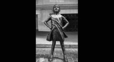 Fearless Girl homenageia Ruth Bader Ginsburg