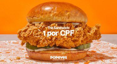 Popeyes traz ao Brasil sanduíche que parou a internet