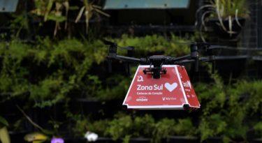 Zona Sul realiza entregas com drones e robôs