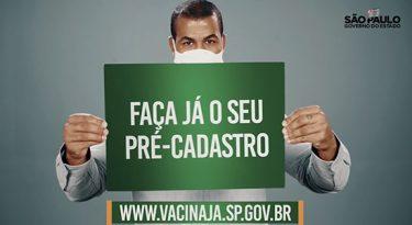 Vacinação: governo de SP foca em cadastro na campanha