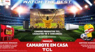 TCL prepara camarote em casa para Copa América