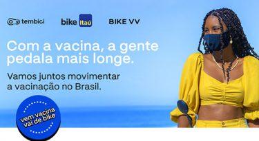 Tembici e Itaú oferecem viagens de bike para quem se vacinar