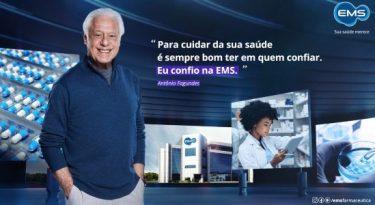 EMS estreia mensagem institucional com Antônio Fagundes