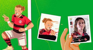 Panini transforma craques em ilustrações para divulgar álbum do Brasileirão