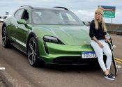 Leticia Bufoni estrela lançamento de carro elétrico da Porsche